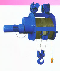 Fat drum / Higher lift wire rope hoist